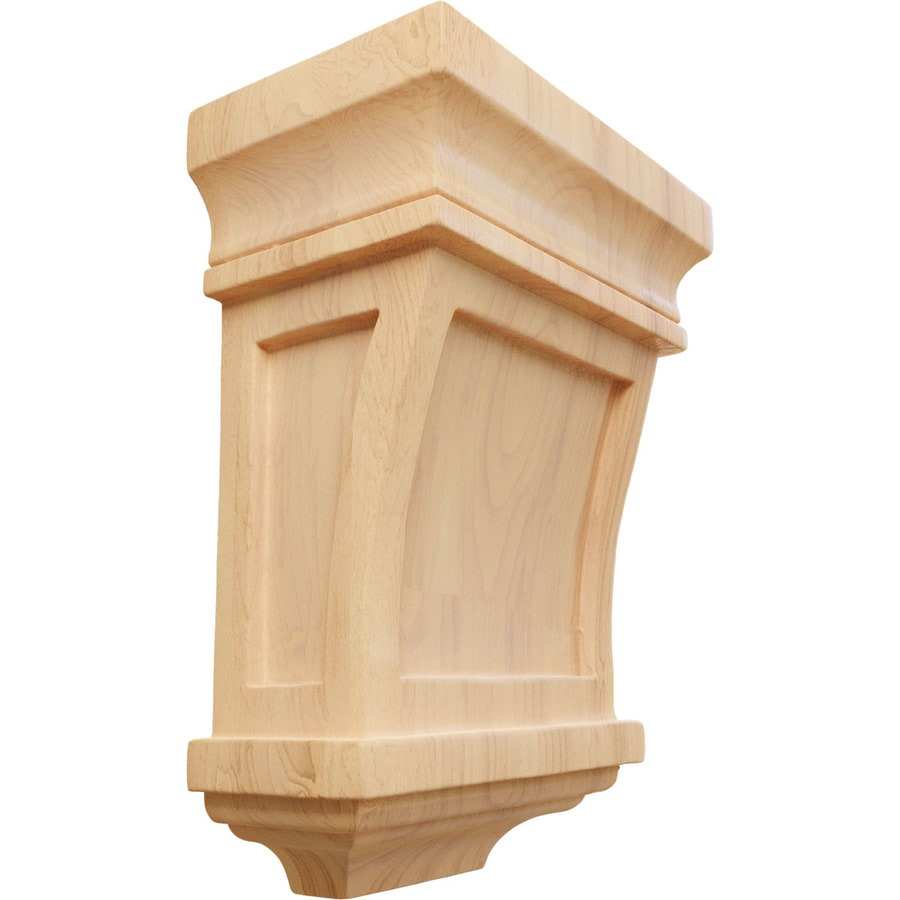 Ekena Millwork 5-in x 7-in Red Oak Santa Fe Wood Corbel