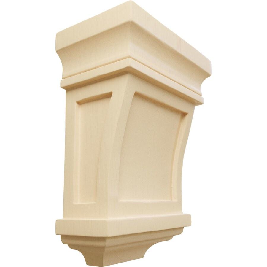 Ekena Millwork 5-in x 7-in Maple Santa Fe Wood Corbel