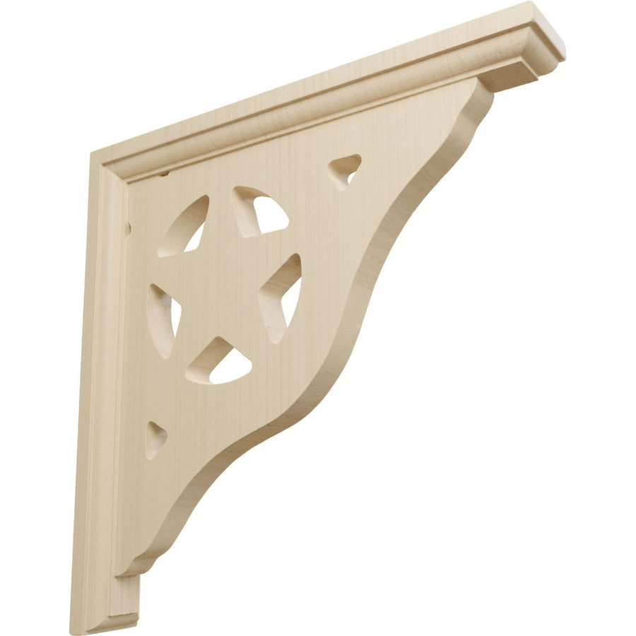 Ekena Millwork 1.5-in x 10-in Rubberwood Bulwark Wood Corbel