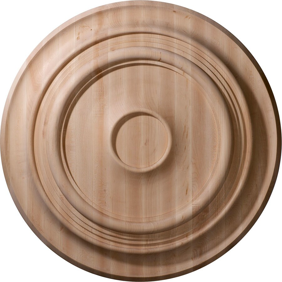 Ekena Millwork Traditional 24-in x 24-in Wood Ceiling Medallion