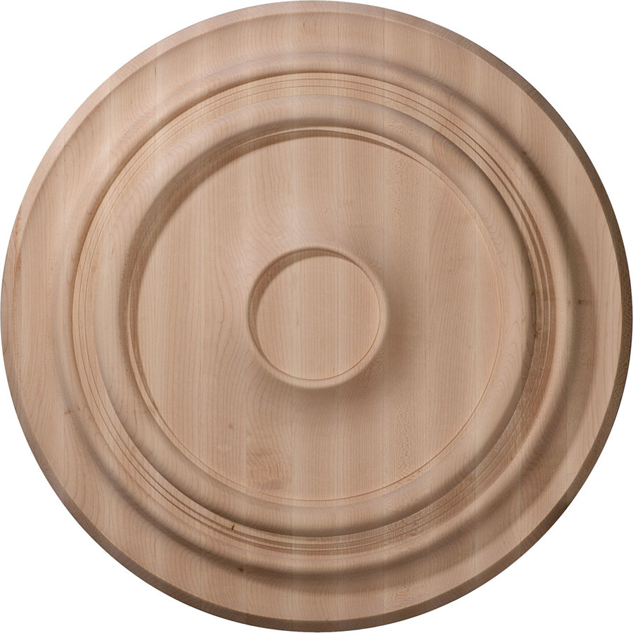 Ekena Millwork Traditional 16-in x 16-in Wood Ceiling Medallion
