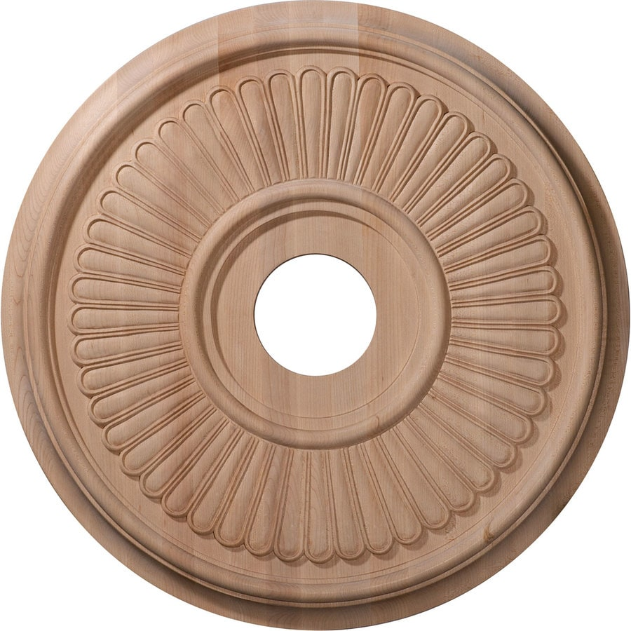 Ekena Millwork Berkshire 20-in x 20-in Wood Ceiling Medallion