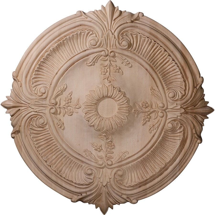 Ekena Millwork Acanthus 24-in x 24-in Wood Ceiling Medallion