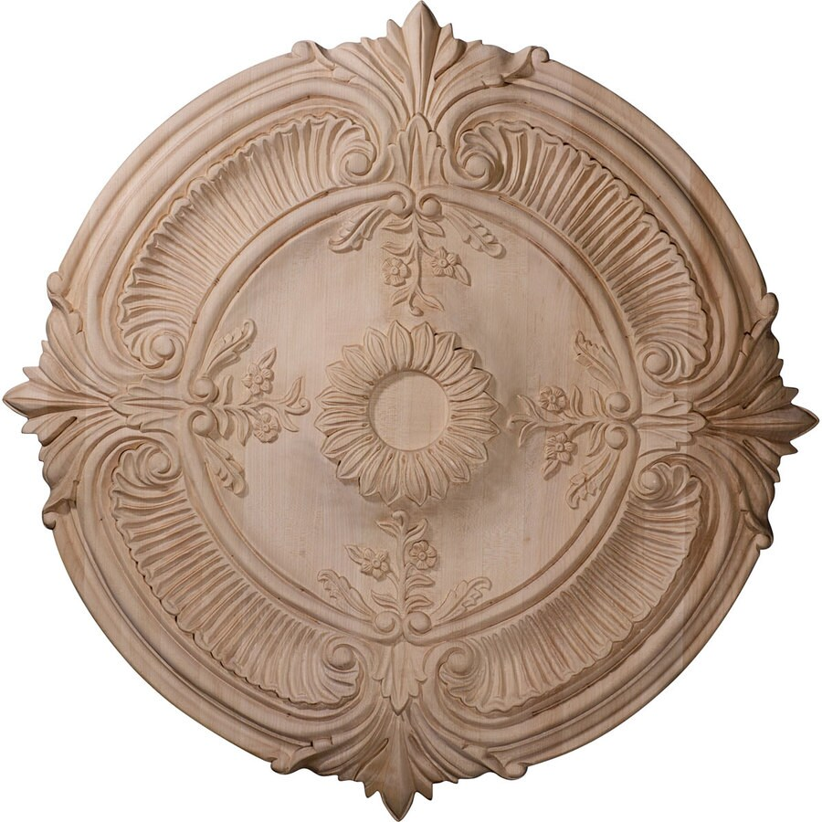 Ekena Millwork Acanthus 16-in x 16-in Wood Ceiling Medallion