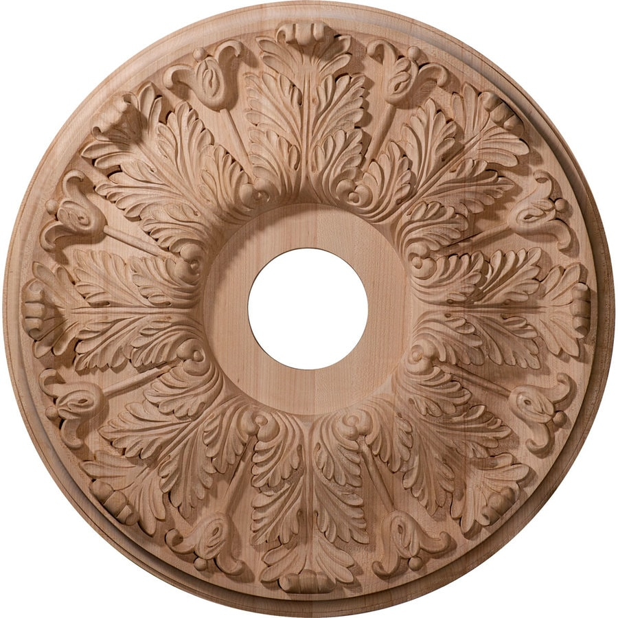 Ekena Millwork Florentine 20-in x 20-in Wood Ceiling Medallion