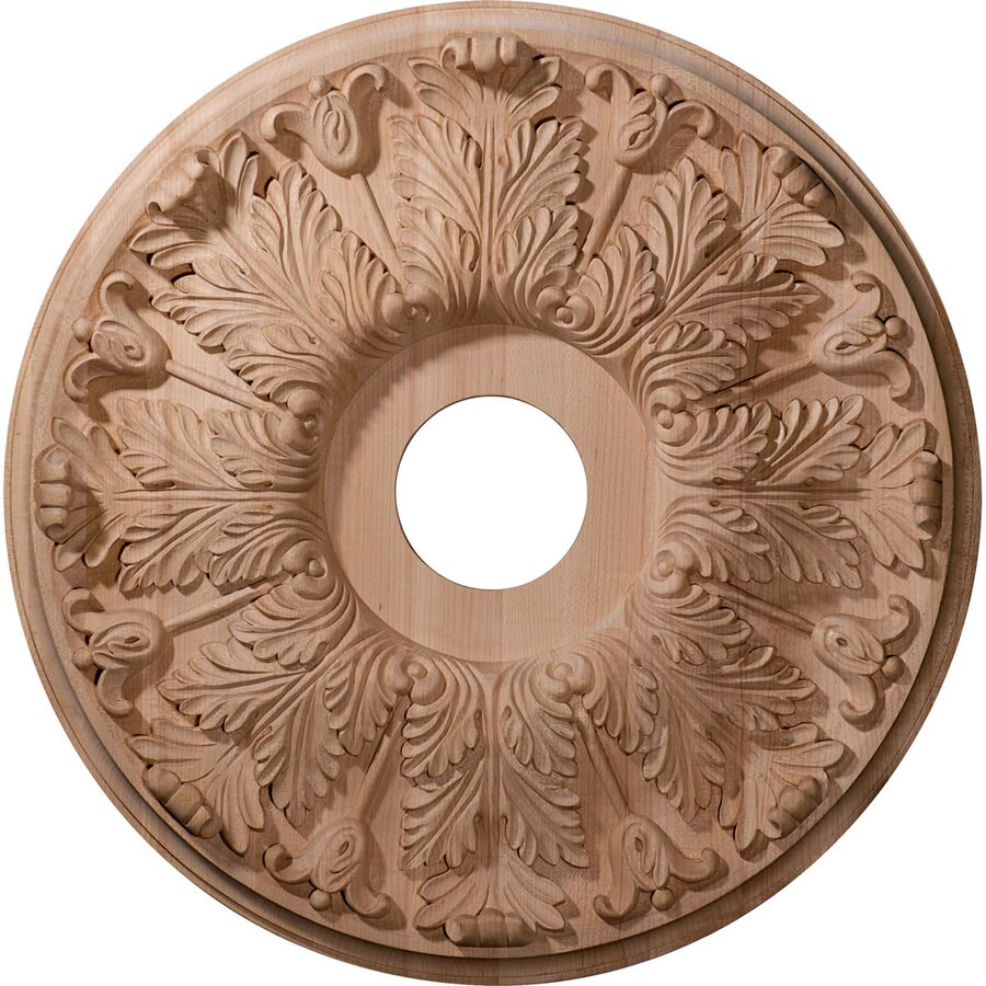 Ekena Millwork Florentine 20-in x 20-in Wood Ceiling Medallion at ...