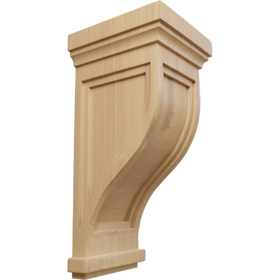 Ekena Millwork 7.5-in x 17-in Cherry Charleston Mission Wood Corbel