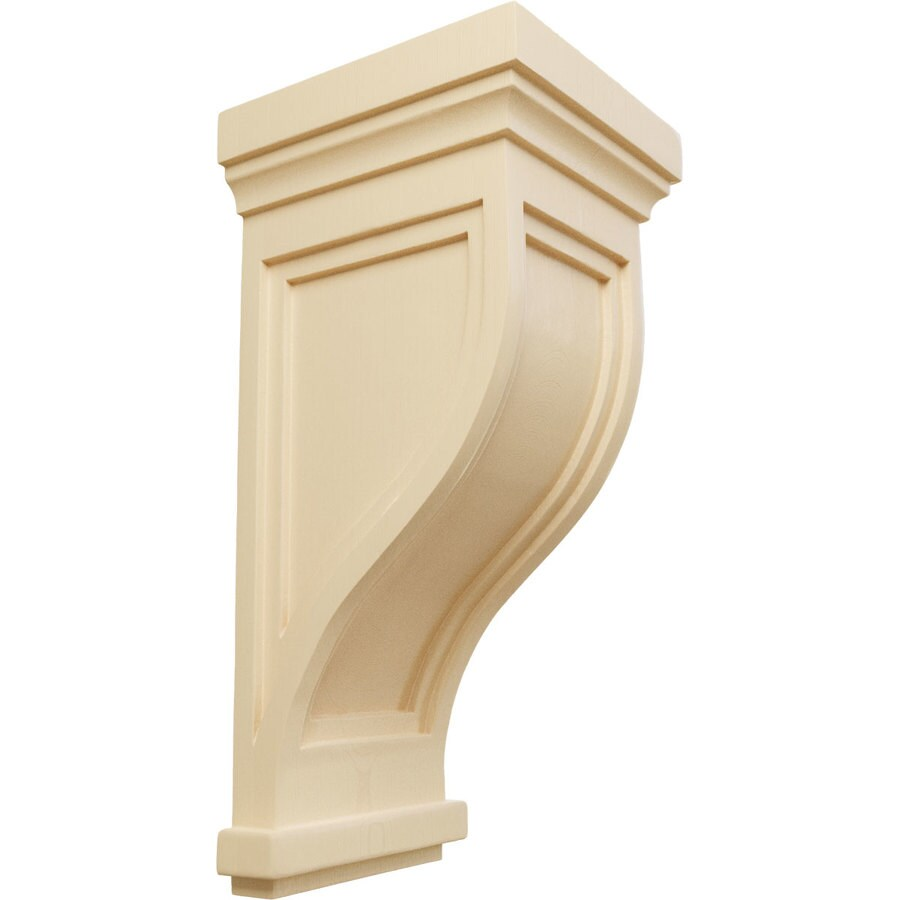 Ekena Millwork 7.5-in x 17-in Maple Charleston Mission Wood Corbel