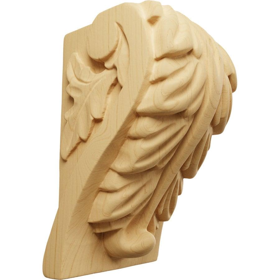 Ekena Millwork 2.5-in x 4-in Alder Acanthus Wood Corbel