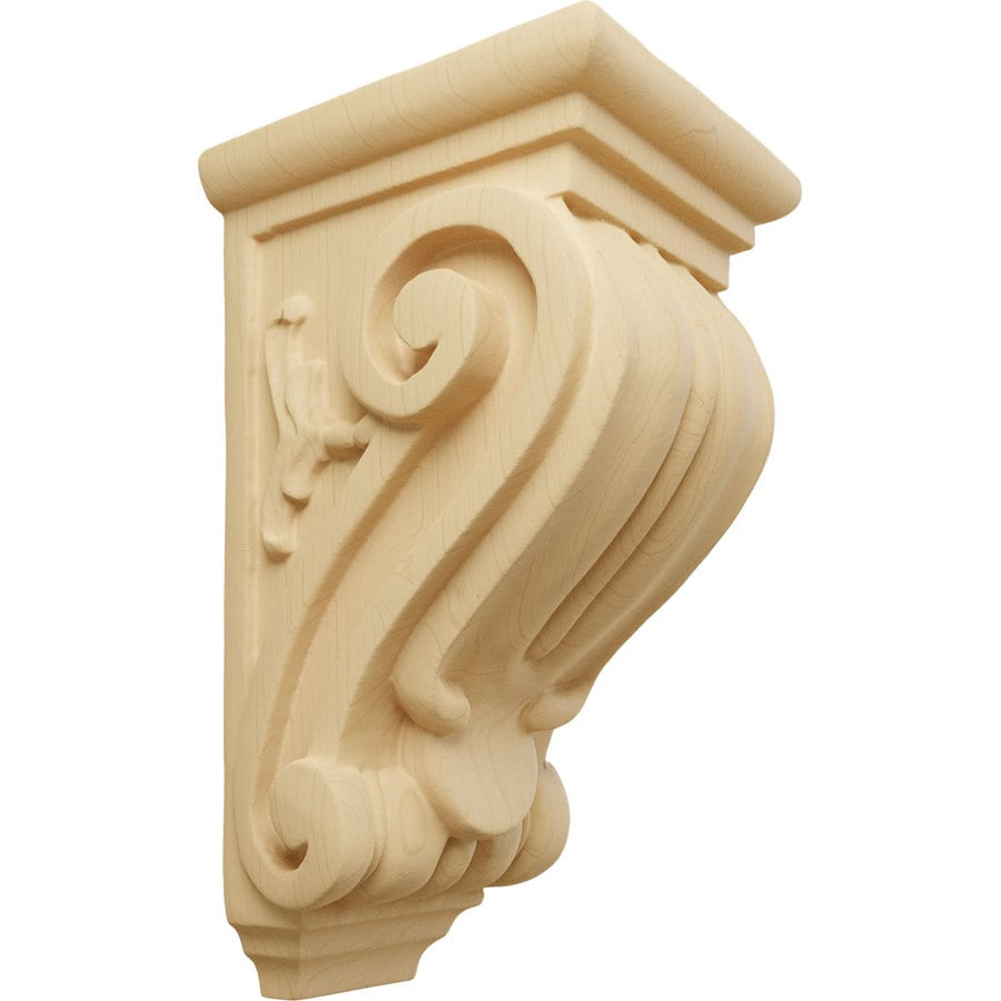 Ekena Millwork 3.5-in x 7-in Alder Wood Corbel