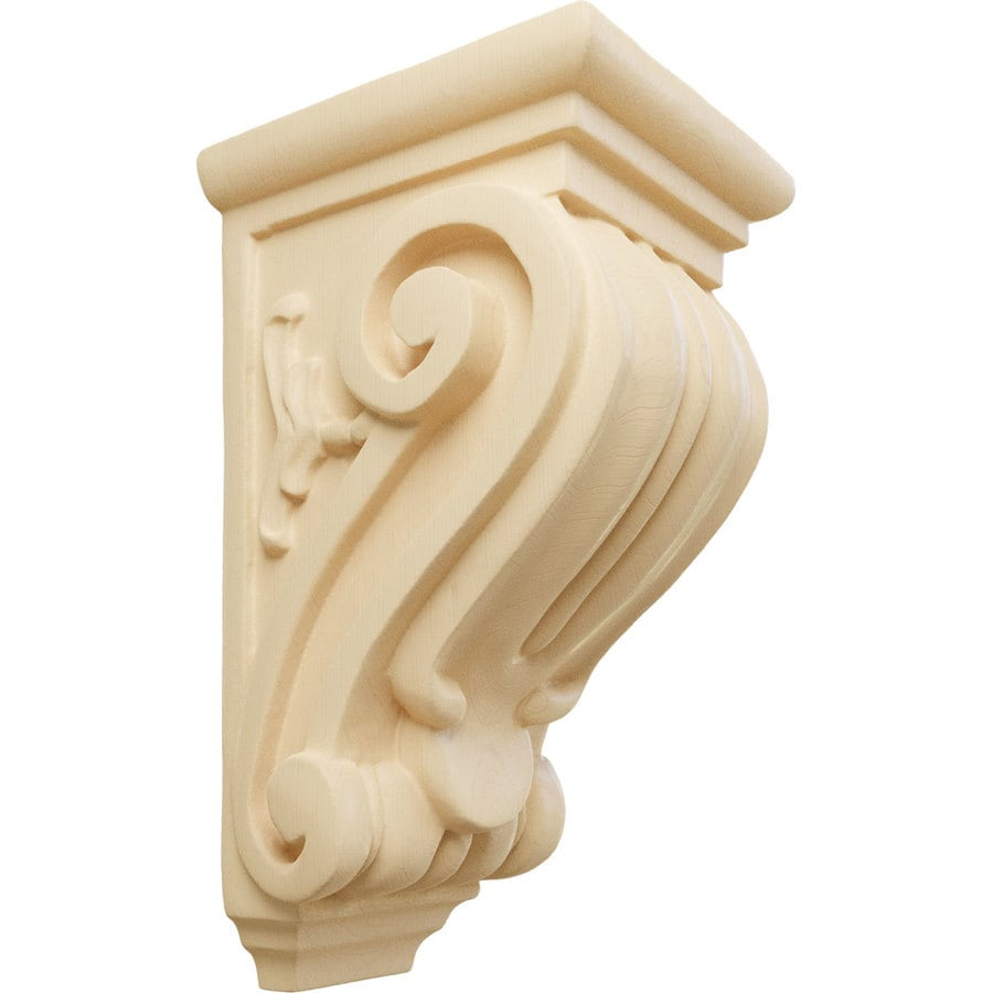 Ekena Millwork 3.5-in x 7-in Maple Classical Wood Corbel