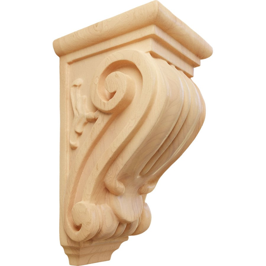 Ekena Millwork 3.5-in x 7-in Classical Red Oak Corbel