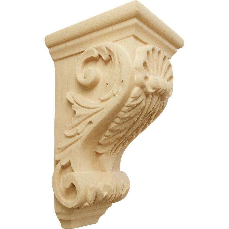Ekena Millwork 3.5-in x 7-in Alder Shell Wood Corbel