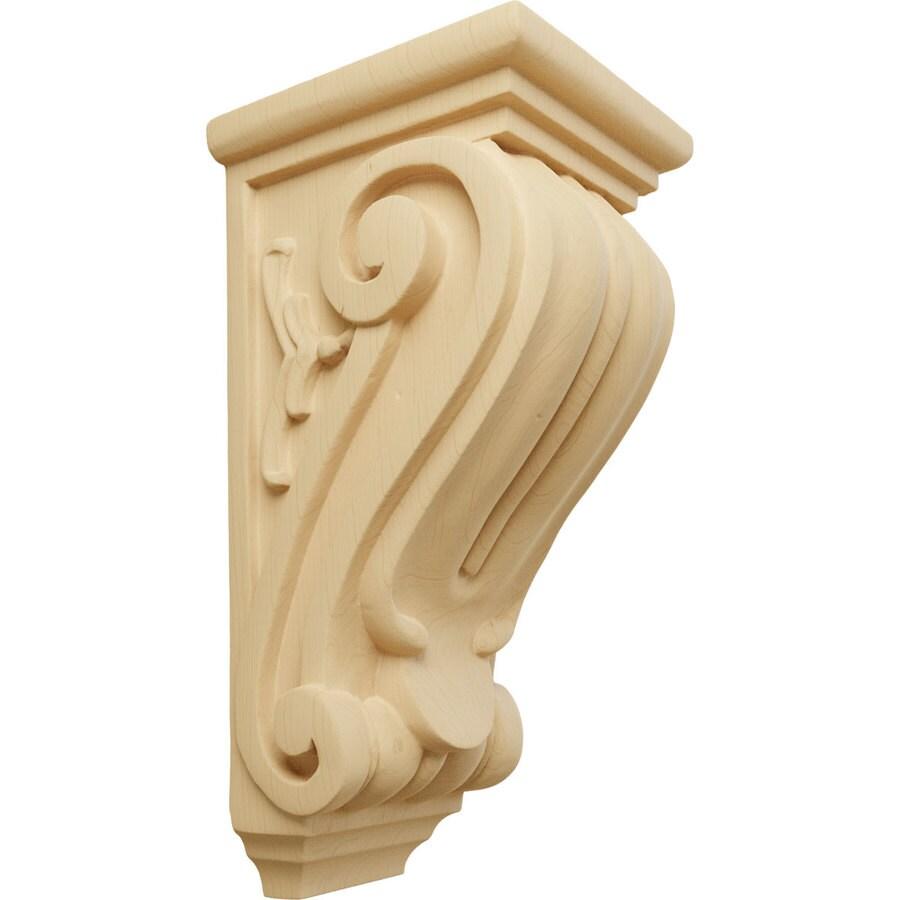 Ekena Millwork 4.5-in x 10-in Alder Classical Wood Corbel