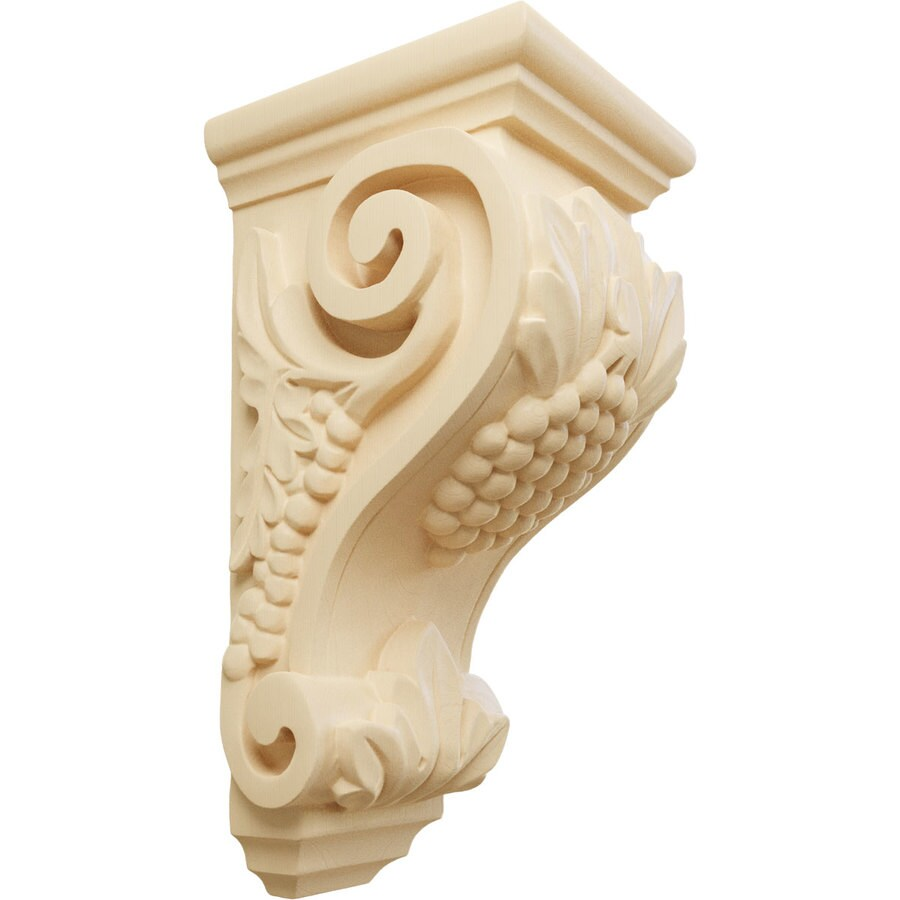 Ekena Millwork 4.5-in x 10-in Maple Grape Wood Corbel