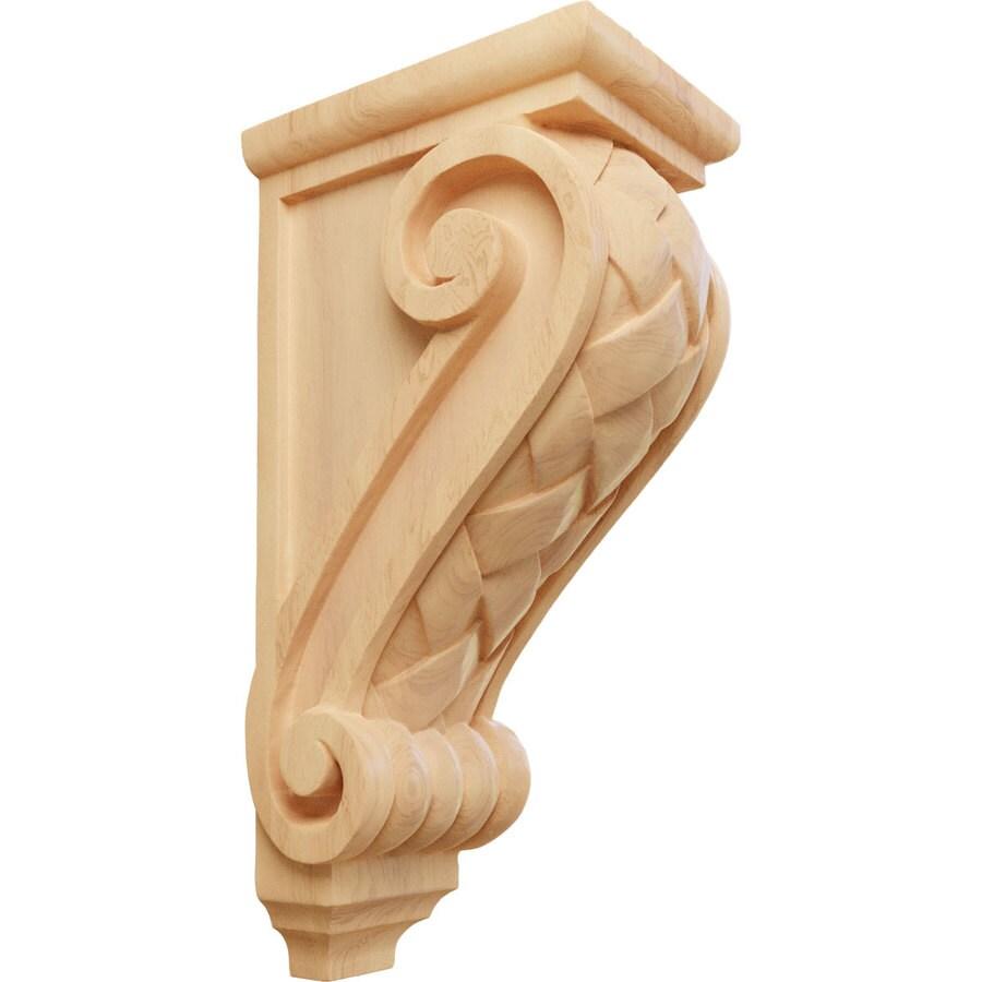 Ekena Millwork 5-in x 14-in Red Oak Basket Weave Wood Corbel