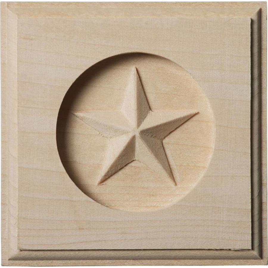 Ekena Millwork Austin Star 3.5-in x 3.5-in Square Alder Rosette