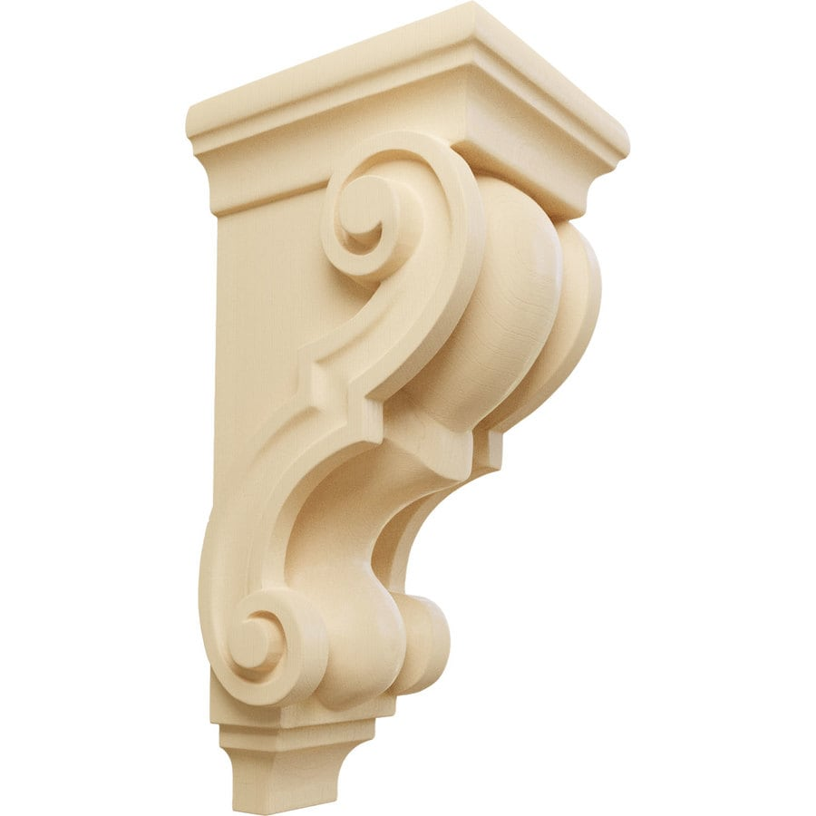 Ekena Millwork 4.5-in x 10-in Maple Wood Corbel