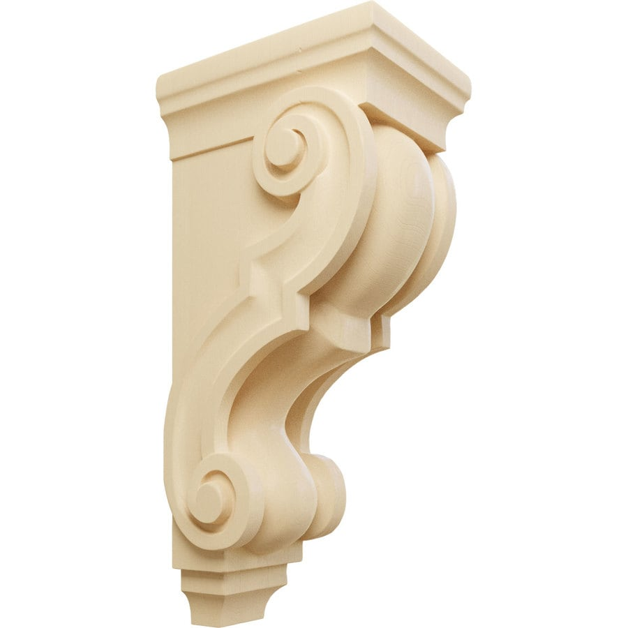 Ekena Millwork 5-in x 14-in Maple Traditional Wood Corbel