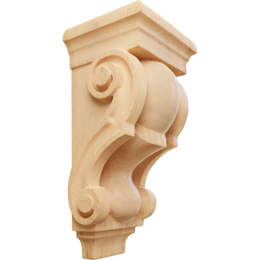 Ekena Millwork 3.5-in x 7-in Red Oak Corbel