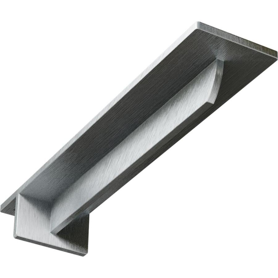 Ekena Millwork Heaton 2-in x 3-in x 16-in Plain Steel Countertop Support Bracket