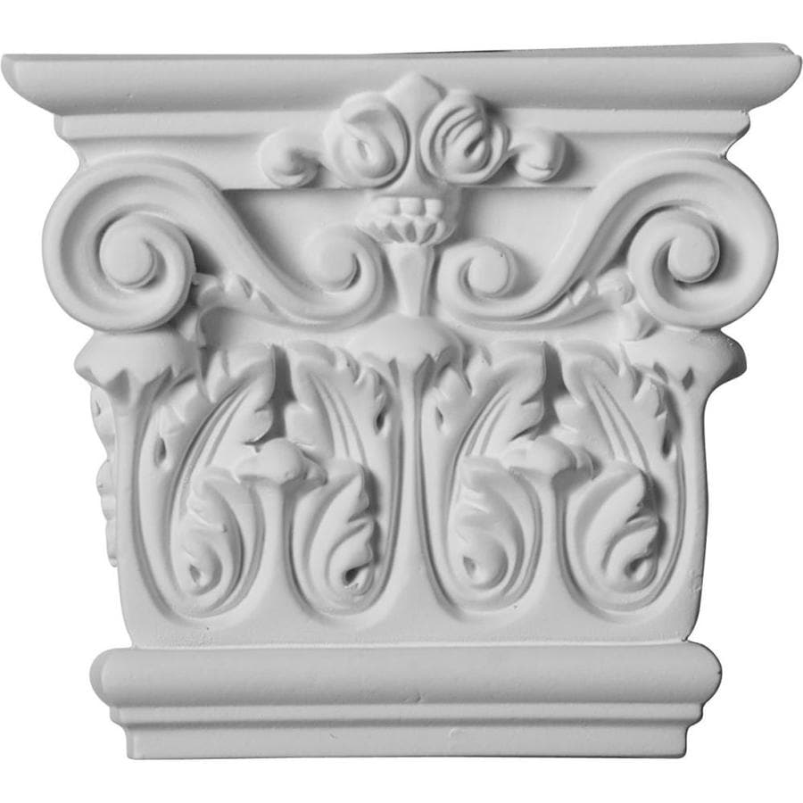Ekena Millwork Corinthian 5.75-in x 0.43-ft Urethane Capital Entry Door Casing Accent