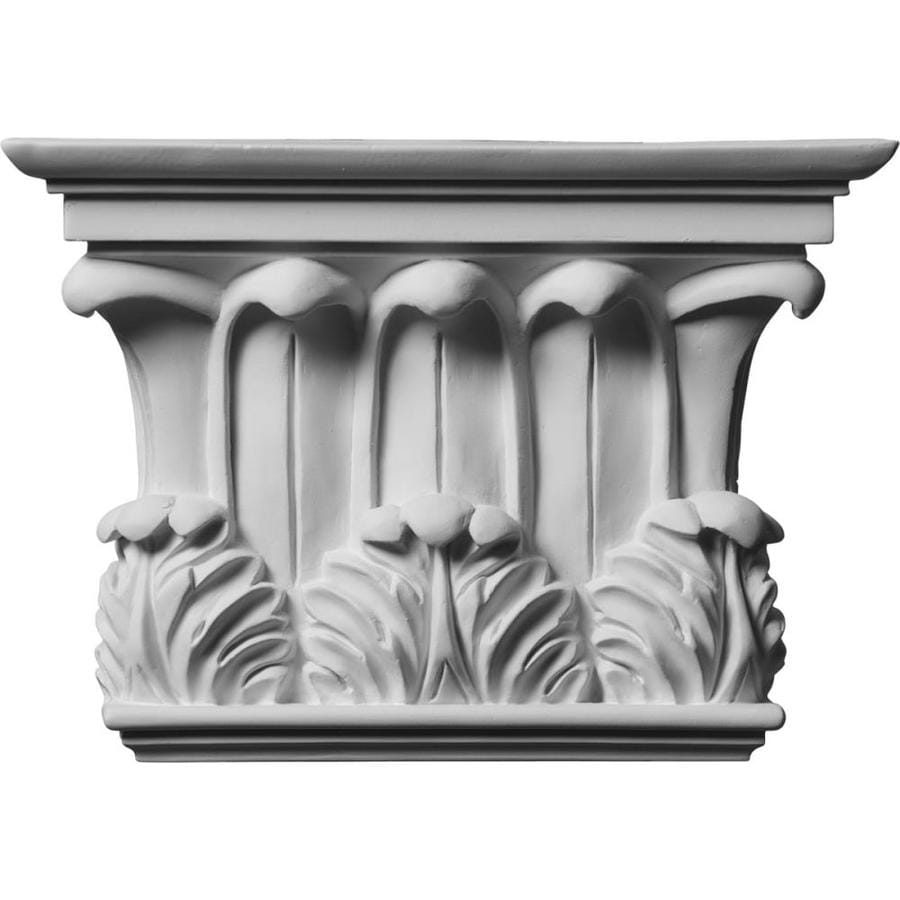 Ekena Millwork Temple of Winds 10.75-in x 0.64-in Primed Urethane Capital Entry Door Casing Accent