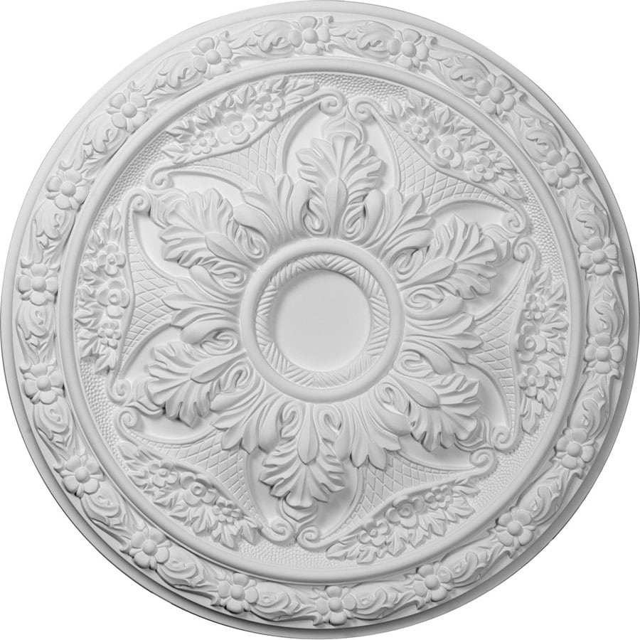 Ekena Millwork Baile 20-in x 20-in Polyurethane Ceiling Medallion