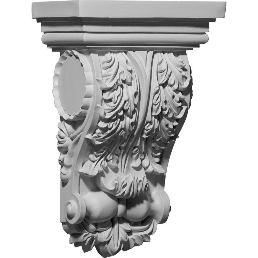 Ekena Millwork 6.5-in x 10-in White Urethane Corbel
