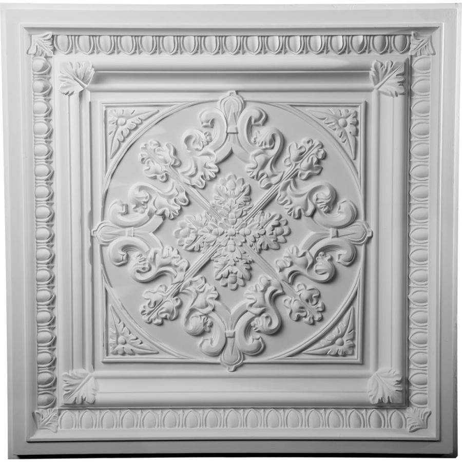 Ekena Millwork Edwards Primed Patterned 3/4-in Drop Ceiling Tiles (Common: 24-in x 24-in; Actual: 24-in x 24-in)