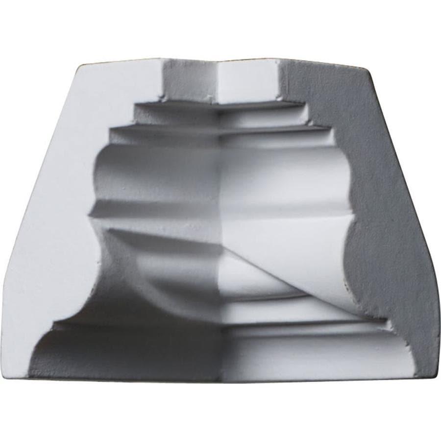 Ekena Millwork 1.625-in x 1.625-in Primed Polyurethane Inside Corner Crown Moulding Block