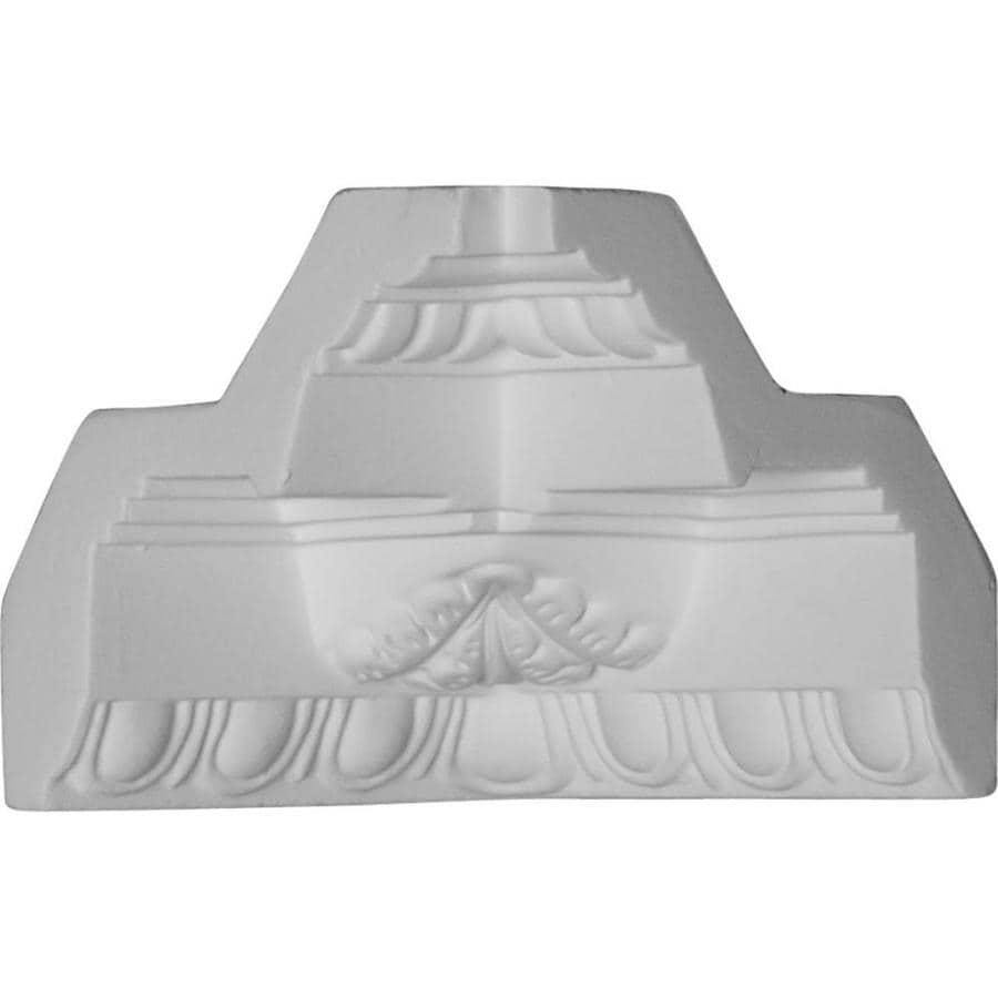 Ekena Millwork 3.625-in x 3.625-in Polyurethane Inside Corner Crown Moulding Block
