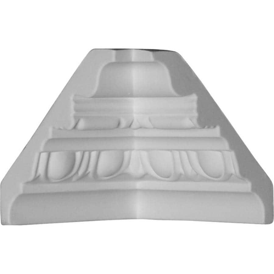 Ekena Millwork 3.375-in x 3.375-in Polyurethane Inside Corner Crown Moulding Block