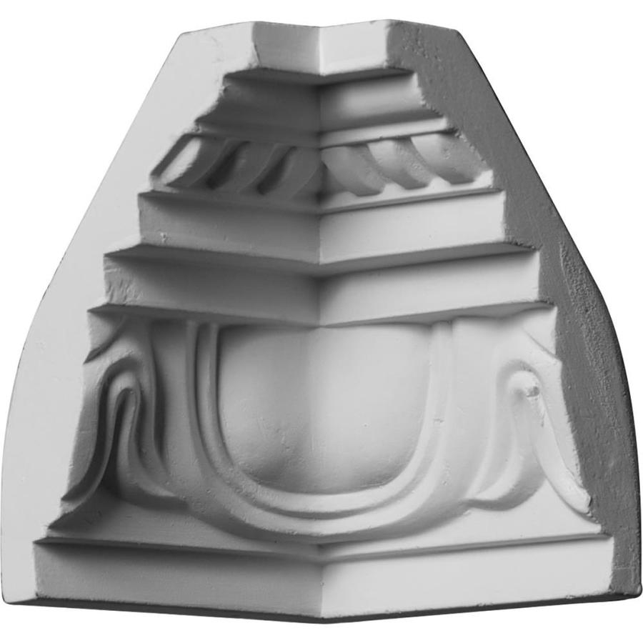 Ekena Millwork 3.25-in x 3.25-in Primed Polyurethane Inside Corner Crown Moulding Block