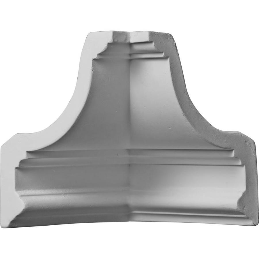 Ekena Millwork 4.5-in x 4.5-in Primed Polyurethane Inside Corner Crown Moulding Block