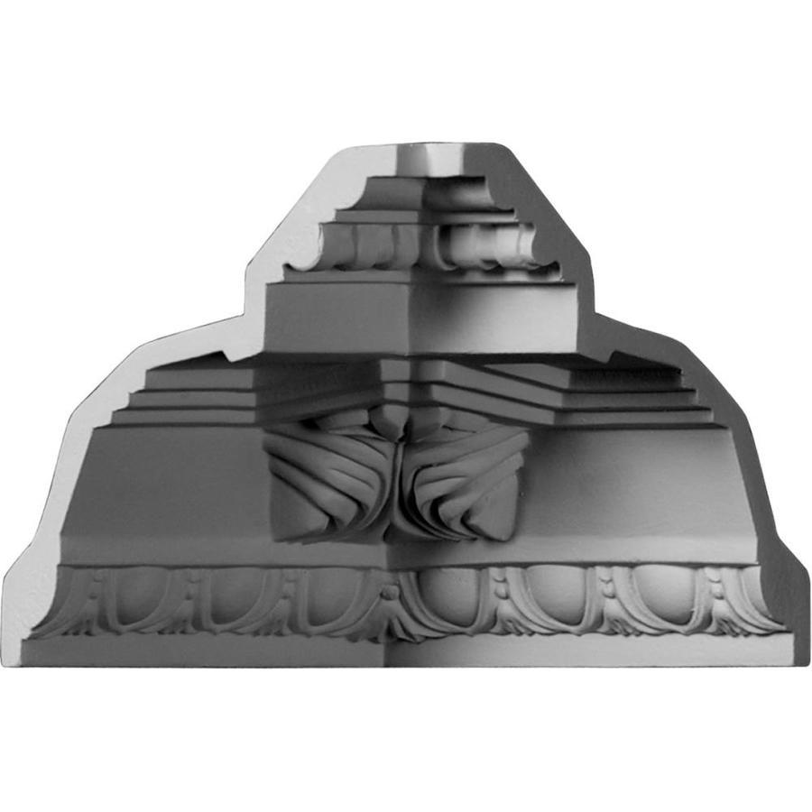 Ekena Millwork 5.25-in x 5.25-in Primed Polyurethane Inside Corner Crown Moulding Block