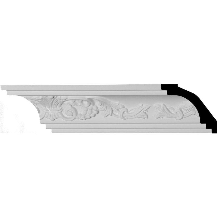 Ekena Millwork 2.5-in x 7.88-ft Primed Polyurethane Quentin Crown Moulding