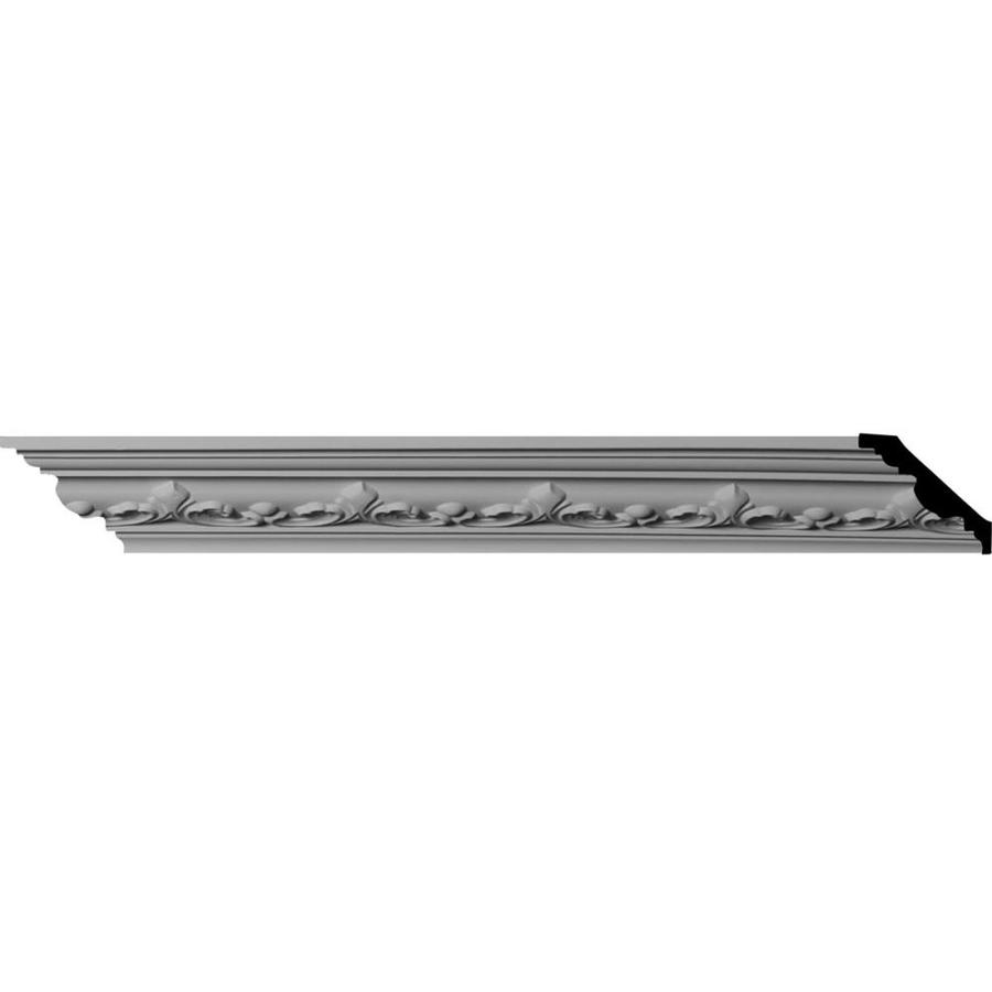 Ekena Millwork 2.375-in x 8-ft Primed Polyurethane Empire Crown Moulding