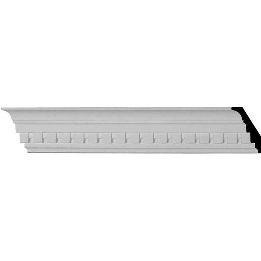 Ekena Millwork 3-in x 7.88-ft Polyurethane Dentil Crown Moulding