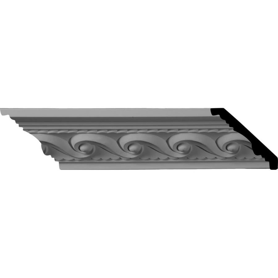 Ekena Millwork 2.625-in x 8-ft Primed Polyurethane Marseille Crown Moulding