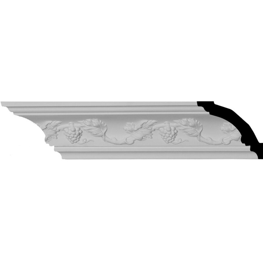 Ekena Millwork 2.75-in x 7.88-ft Primed Polyurethane Grapevine Crown Moulding