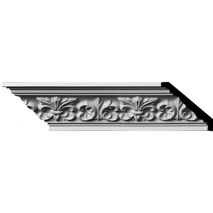 Ekena Millwork 3.25-in x 8-ft Polyurethane Fleur De Lis Crown Moulding
