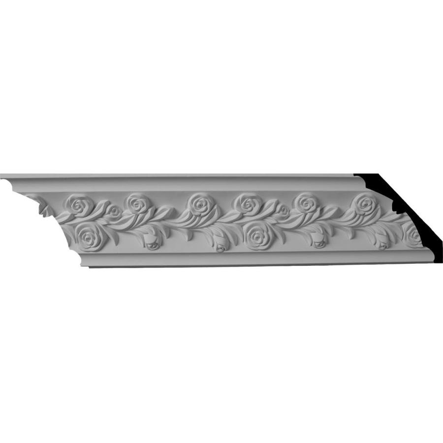Ekena Millwork 3.875-in x 8-ft Polyurethane Rose Crown Moulding