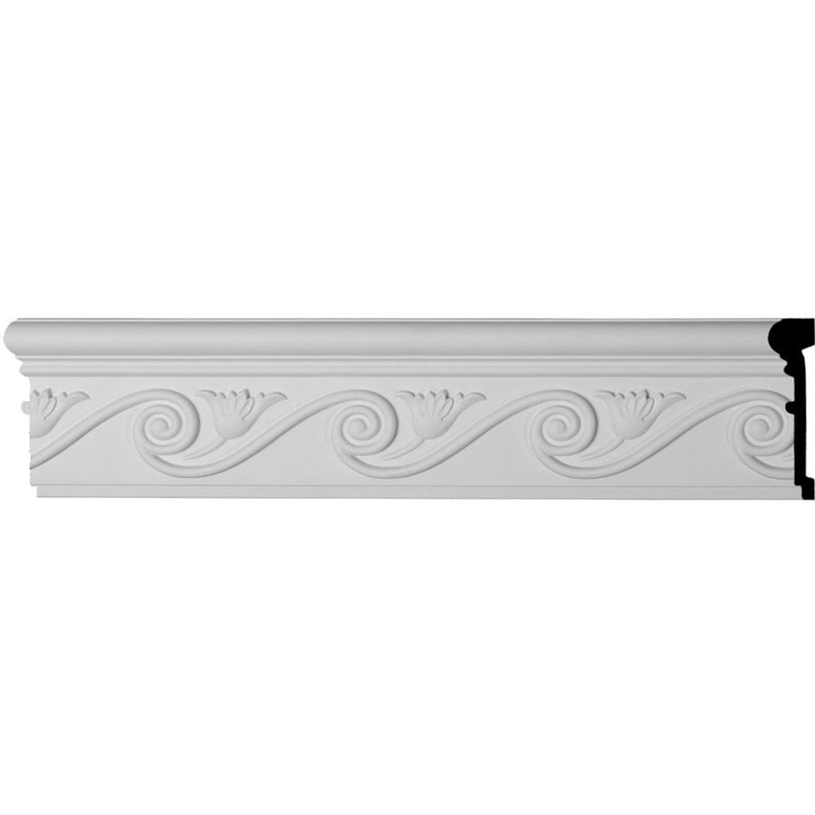 Ekena Millwork Floral 5.5-in x 7.88-ft Primed Polyurethane Connector Wall Panel Moulding