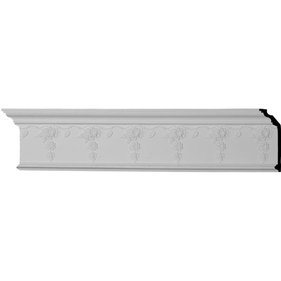 Ekena Millwork 7.5-in x 7.88-ft Primed Polyurethane Flower Crown Moulding
