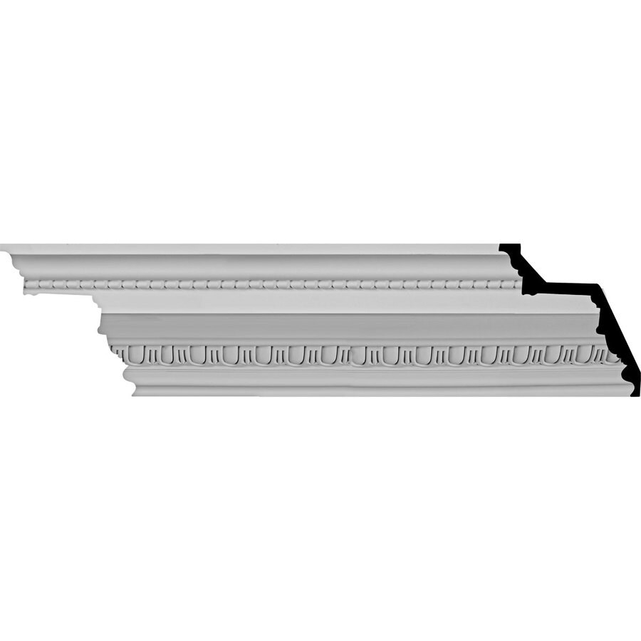 Ekena Millwork 7.375-in x 8-ft Polyurethane Bedford Crown Moulding