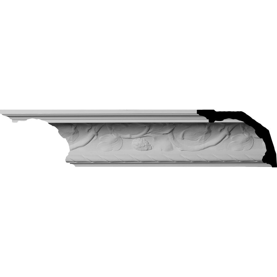 Ekena Millwork 6.625-in x 8-ft Primed Urethane Crown Moulding
