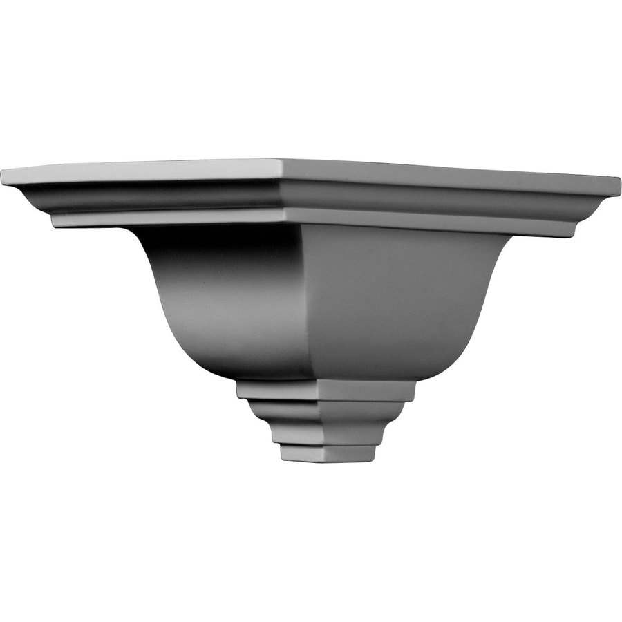 Ekena Millwork 7.5-in x 7.5-in Primed Polyurethane Outside Corner Crown Moulding Block