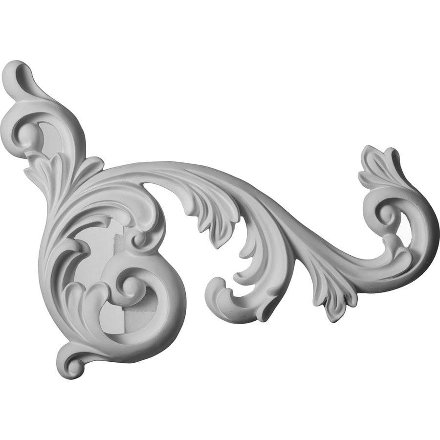 Ekena Millwork 15.75-in x 19.625-in Edwards Urethane Applique