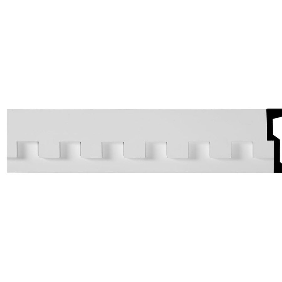 Ekena Millwork Dentil 7-in x 7.88-ft Polyurethane Connector Wall Panel Moulding